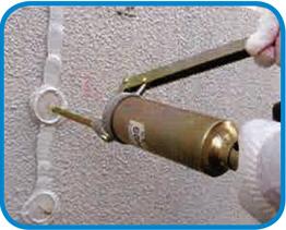 SKグラウトプラグB工法 手動式樹脂注入方法